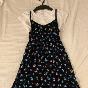 girl's shirt and mini dress//size 12